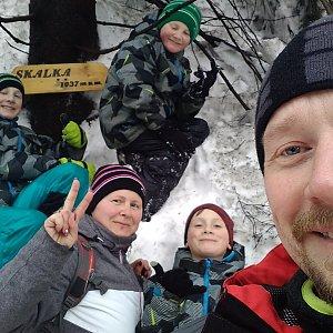 Ogondraga na vrcholu Skalka (na Pustevnách) (3.2.2019)