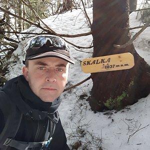Pavel Skřičík na vrcholu Skalka (na Pustevnách) (17.3.2019 12:06)