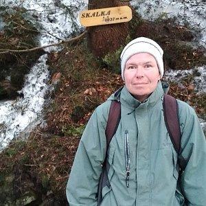 Michal Krčmář na vrcholu Skalka (na Pustevnách) (24.3.2019 18:02)