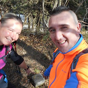Romana Larischová na vrcholu Skalka (na Pustevnách) (7.4.2019 11:39)