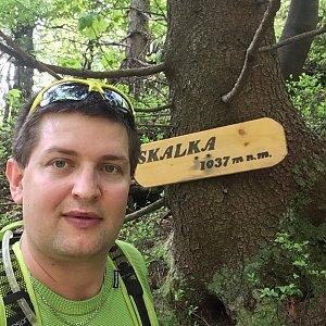 Radim Škrabánek na vrcholu Skalka (na Pustevnách) (2.6.2019 9:27)