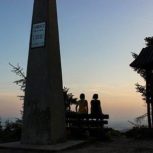 Terez Valčíková na vrcholu Turbacz (10.6.2019 20:15)