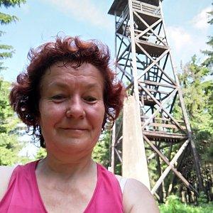 Anna na vrcholu Radziejowa (15.6.2019)
