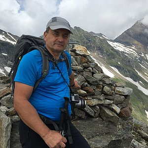 Jarek na vrcholu Kleiner Grieskogel (22.7.2019 13:05)
