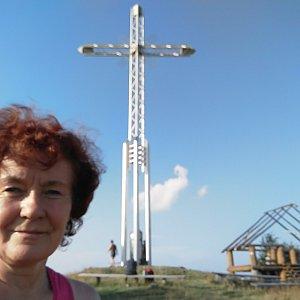 Anna na vrcholu Bendoszka Wielka  (8.8.2020 17:55)