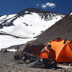 Jiří Klein na vrcholu Ojos Del Salado (1.12.2016 13:05)