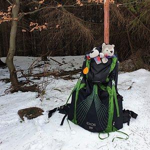 Petr Pepe Peloušek na vrcholu Miaší (1.3.2020 13:03)