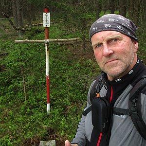 Michal Kříž na vrcholu Popelná hora - J vrchol (29.5.2021 12:32)