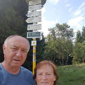 Arni na vrcholu Javorový vrch (27.8.2019 9:33)