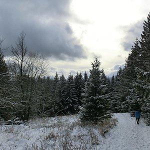 Czylok Pavel na vrcholu Javorový vrch (27.1.2018 13:45)
