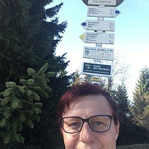 Kamila  Petrová na vrcholu Javorový vrch (26.10.2019 13:43)