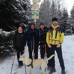 Dunik na vrcholu Javorový vrch (20.1.2018 14:00)