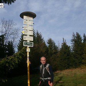 Čestmír Kubíček na vrcholu Javorový vrch (17.11.2019 9:35)
