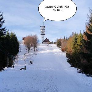 Patrik Sikora na vrcholu Javorový vrch (2.1.2020 10:00)