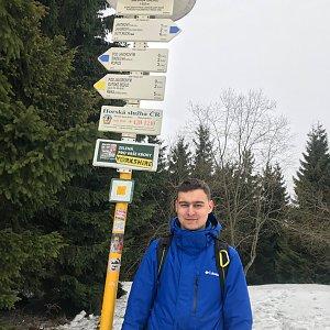Bronislav na vrcholu Javorový vrch (16.1.2020 12:00)
