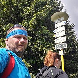 Martin a Jana Halamíčkovi na vrcholu Javorový vrch (20.5.2018 10:02)