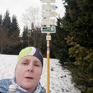 Satánek na vrcholu Javorový vrch (23.2.2020 14:45)