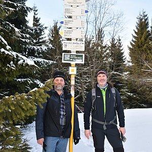 Ladislav Farý na vrcholu Javorový vrch (22.2.2020 14:00)