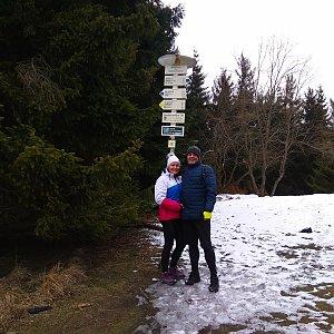 Roman Tigge na vrcholu Javorový vrch (6.3.2020 12:19)