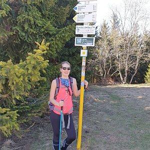 Hana Lančová na vrcholu Javorový vrch (18.4.2020 13:38)