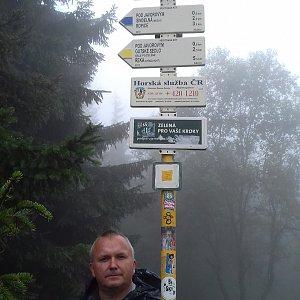 Michael na vrcholu Javorový vrch (6.9.2020 13:32)