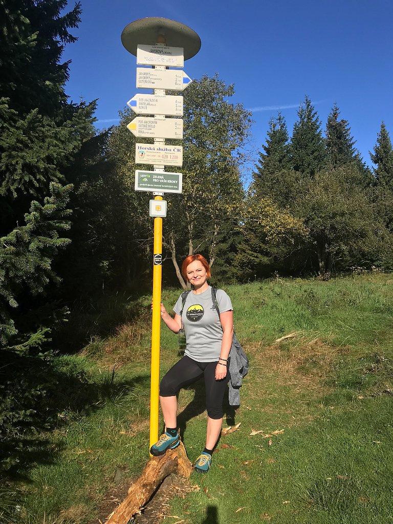 Hanka na vrcholu Javorový vrch (16.9.2018 21:09)