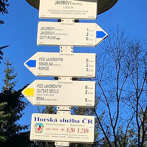 RŠind na vrcholu Javorový vrch (7.11.2020 9:55)