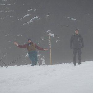 Vendula Kalocsányiová na vrcholu Javorový vrch (28.12.2018 12:54)