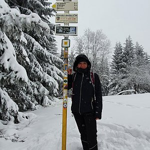 IG na vrcholu Javorový vrch (16.1.2021 10:40)