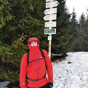 Vítězslav Vrána na vrcholu Javorový vrch (23.1.2021 10:32)