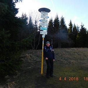 cz7pka na vrcholu Javorový vrch (4.2.2018 12:12)