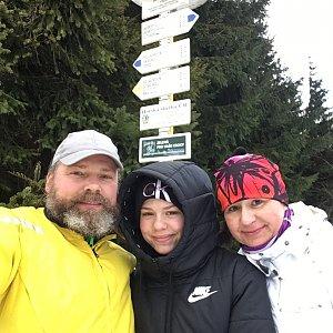 Moty na vrcholu Javorový vrch (23.1.2021 12:54)