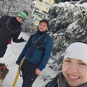Markéta Čeníková na vrcholu Javorový vrch (31.1.2021 12:20)