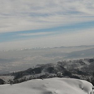 Jan Juchelka na vrcholu Javorový vrch (31.1.2021 13:30)
