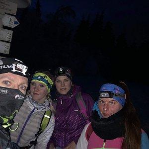 Paula Siudová na vrcholu Javorový vrch (30.1.2019 18:00)