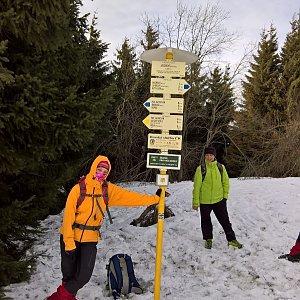 Radůza na vrcholu Javorový vrch (10.2.2019)
