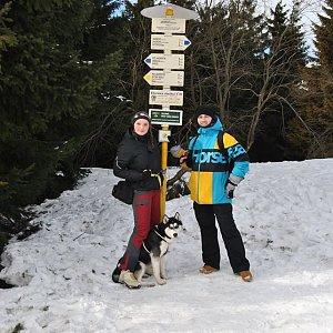 David Bunny Beil na vrcholu Javorový vrch (9.2.2019 13:00)