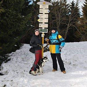 Nikol Podesvova na vrcholu Javorový vrch (9.2.2019 13:00)