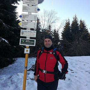 Jiří P na vrcholu Javorový vrch (23.2.2019 15:41)