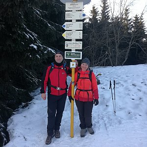 dana na vrcholu Javorový vrch (23.2.2019 15:42)