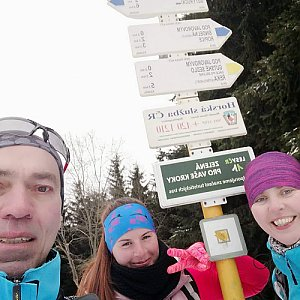 Paula Siudová na vrcholu Javorový vrch (24.2.2019 11:30)
