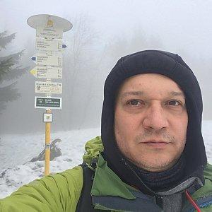 Pery na vrcholu Javorový vrch (26.2.2019 10:04)