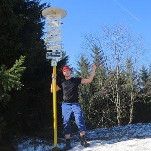 Jan Rendl na vrcholu Javorový vrch (23.3.2019 12:15)