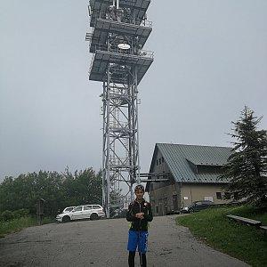 Petra Kosarkova na vrcholu Javorový vrch (26.6.2021 11:49)