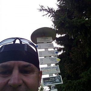 Li Be na vrcholu Javorový vrch (13.7.2021 16:54)