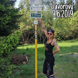 Zde Nka na vrcholu Javorový vrch (9.6.2019 19:47)