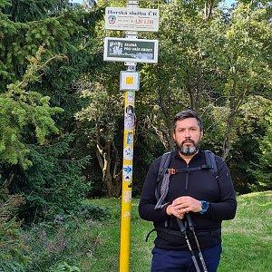 Jiří Gryz na vrcholu Javorový vrch (5.9.2021 14:29)