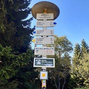 Hancula na vrcholu Javorový vrch (3.10.2021 13:32)