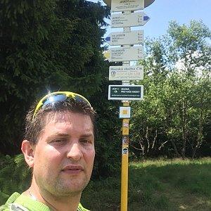 Radim Škrabánek na vrcholu Javorový vrch (16.7.2019 13:29)