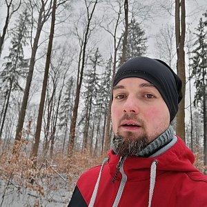 Jan Zamarski na vrcholu Jahodná (7.2.2021 9:13)